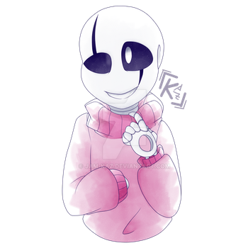 Gaster in Pink Sweater by JessieJAM-TheArtist