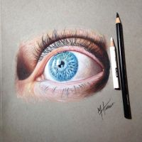 Color pencil eye drawing by MacHammac