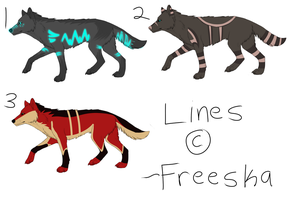 Wolf Adoptables BATCH 9 - 1 LEFT - CHEAPER PRICE! by Krissi2197