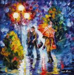 The Red Impression by Leonid Afremov by Leonidafremov