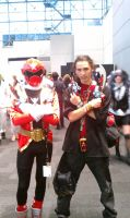 Gokai Red at NY comic con by Raded-Raikage