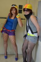 Biker Wario and Waluigi! by Come-On-Cosplay