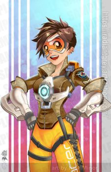 Tracer - Overwatch by Radiant-Grey