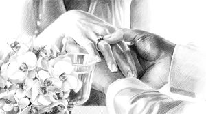 Wedding drawing by Precia-T