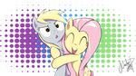 Derpy and Flutty by NadyaD