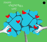 Valentines day card - tree of cold love by loenabelle