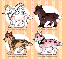 CLOSED | Valentines canine adopts Batch 1 by gold-adopts