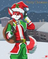 Merry Christmas :3 by RedWolfXlll