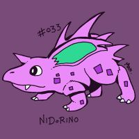 033 Nidorino by toadcroaker