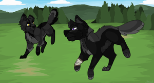 Out for a Run... Commission for Cylithren by Blixemi