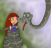 Kaa and Starfire Redraw Paint by lol20