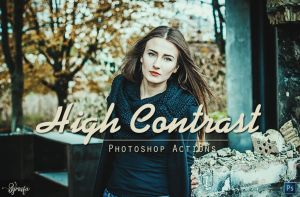 50 High Contrast Photoshop Actions by symufa