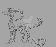 Molten Metal dragon concept by AssasinGodFun
