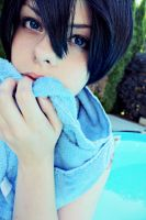 Haruka Nanase Cosplay: Did you say...water? by karinWaterproof