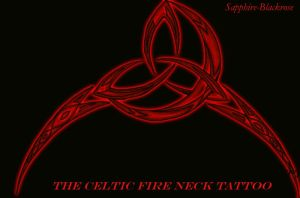 celtic fire neck tattoo by sapphire-blackrose