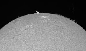 eruptive prominence on July 13 by giovannigabrieli