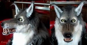 Timber Werewolf mask commission by Farumir