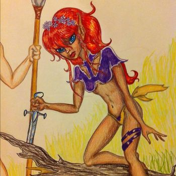 Ember from Elfquest by Thornbrake