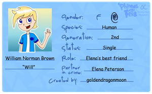 William's new ID card (improved) by LunarStarwhisper