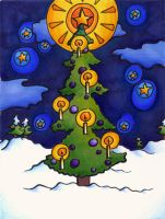 Christmas Card 3-Tree by limepeel13