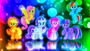 Scary Ponies Wallpaper by FridaSuarez1234567