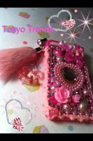 Hime Hot Pink Power iphone case by Tokyo-Trends