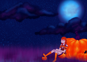October Colour Challenge: Moongazing by random-drawer-person