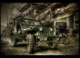 Old US Army Jeep ThailandCambodia by Drchristophers