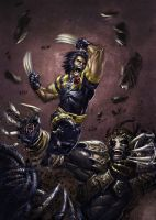 Ultimate Wolverine fighting uh by BenHerrera