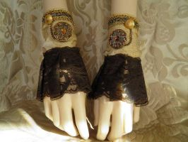 Steampunk-Victorian cuffs PCCC16 by JanuaryGuest