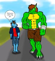 Walking whit Suque by paladin095