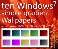 10 Windows 7 wallpapers by yavinfour