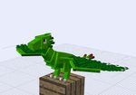 Plant Dragon Minecraft Techne Model by Zed-Harmonia