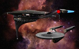 Trek Ships... in Space by Dajhail