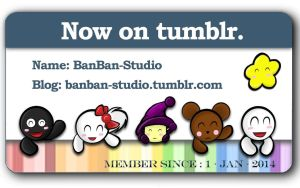 tumblr card for BanBan-Studio by Zerox-II