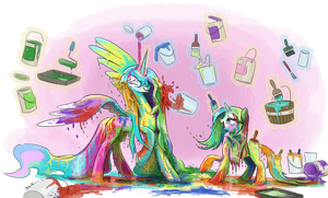Paint Fight by King-Kakapo