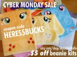 ETSY Cyber Monday SALE! $5 OFF beanie Kits! by ButtercupBabyPPG