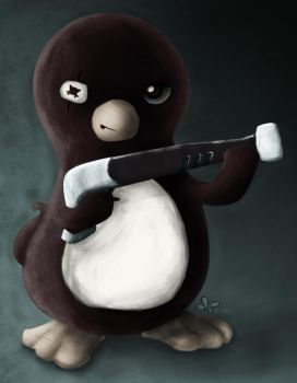 Penguin - Freeze Ray by Azrelae