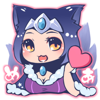 Mid Night Ahri for friend by Refel-Salala