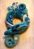 Turquoise Polymer Clay Dragon3 by ValerianaSolaris