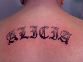 Alisha Lettering by Ozect