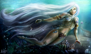Water Nymph by MalthusWolf