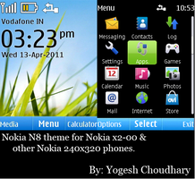Nokia N8 theme for Nokia X2-00 and others. by cyogesh56