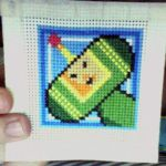 Katamari Cross Stitch by kidou