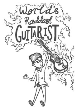World's Raddest Guitarist by NezoElyk