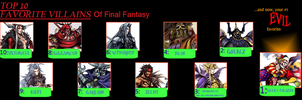 My top 10 Final Fantasy Villains by Salem-the-Psychic