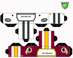 jets redskins helmets by 1madhatter
