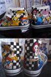Custom Cartoon Network shoes by sarmander