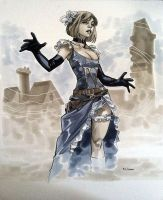 Steampunk Susan Storm - Comic Con Paris 2012 by MahmudAsrar