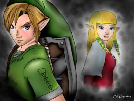 Zelda and  Link by Becci888